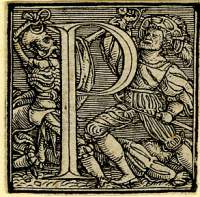 Holbein Alphabet 1526: Initial P