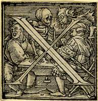 Holbein Alphabet 1526: Initial X
