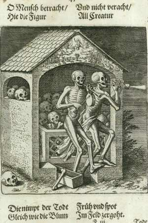 Basel's dance of death, ossuary
