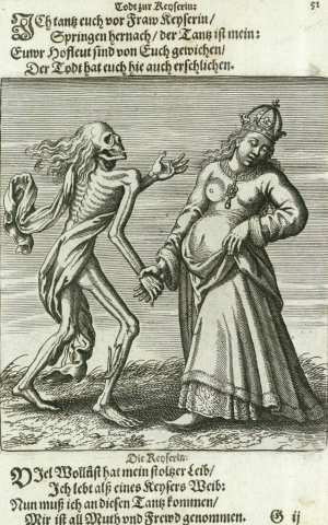 Basel's dance of death, The empress