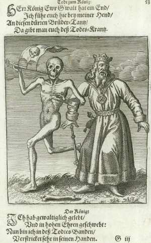 Basel's dance of death, The king