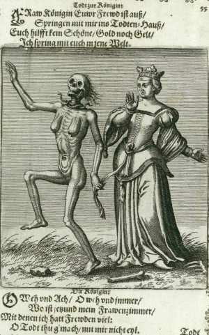 Basel's dance of death, The queen