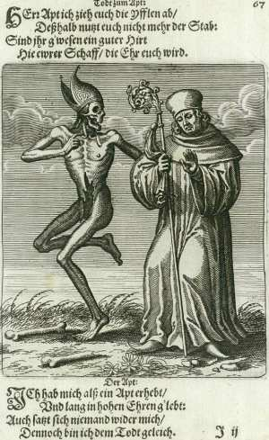 Basel's dance of death, The abbot