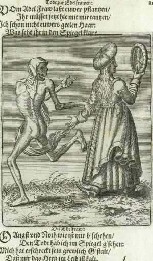 Basel's dance of death, The noblewoman