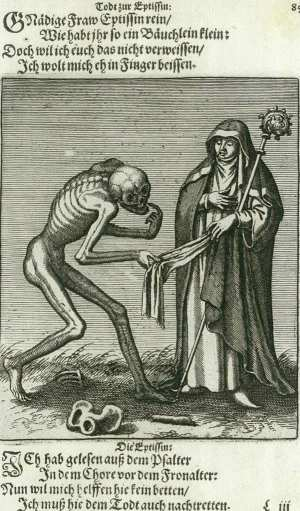 Basel's dance of death, Abbess