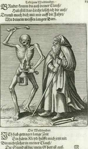 Basel's dance of death, Hermit