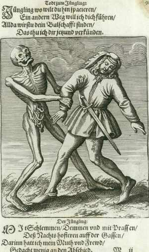 Basel's dance of death, The Young man