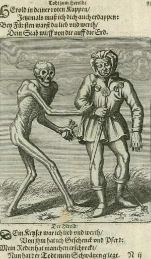 Basel's dance of death, The herald