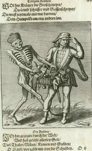 Basel's dance of death, The peddler