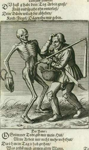 Basel's dance of death, The peasant