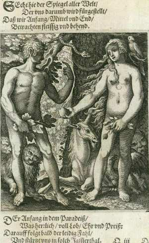 Basel's dance of death, Adam and Eve