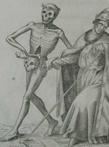 Basel's dance of death. pope