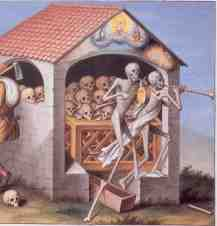 Basel's Dance of death, the ossuary