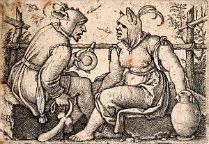 Beham: The fool and the lady fool