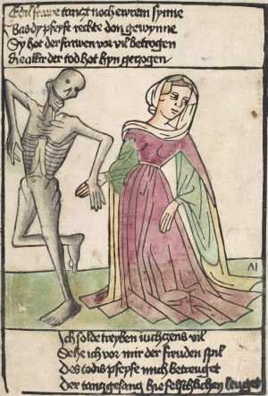 Heidelberg's dance of death, Noblewoman