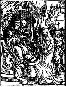 Holbein's Imagines Mortis: Pave