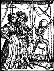 Holbein's Imagines Mortis: Noblewoman / Newlywed couple
