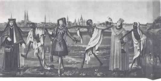 Lübeck's dance of death, Canon, nobleman and physician