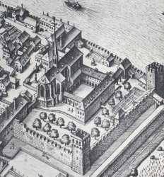 Merian, kort over Basel, 1615