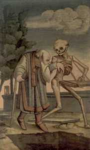 Dance of death in Wasserburg's ossuary, 1837